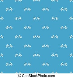 Checkered racing flags pattern seamless blue - Checkered...