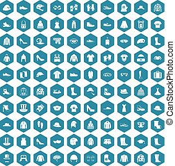 100 clothing and accessories icons sapphirine - 100 clothing...