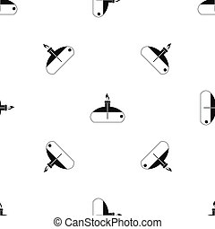 Spiritlamp pattern seamless black - Spiritlamp pattern...
