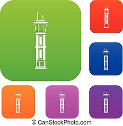 Airport control tower set collection