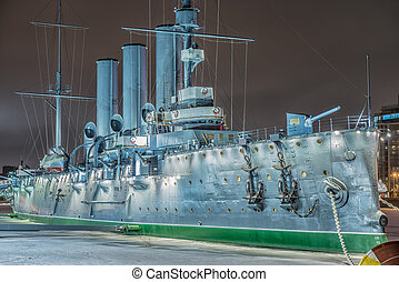 Armoured cruiser Aurora, St.Petersburg, Russia - Cruiser...