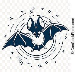 silhouette of bats night