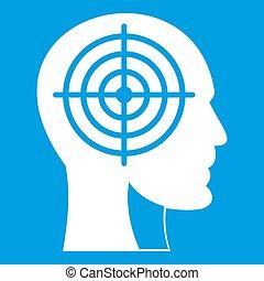 頭, 白色,  Crosshair, 人類, 圖象