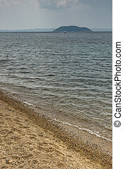 Panoramic view of Paradisos Neos Marmaras Beach at Sithonia...
