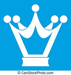 Princess crown icon white
