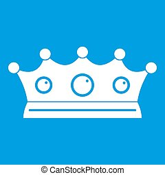 Jewelry crown icon white