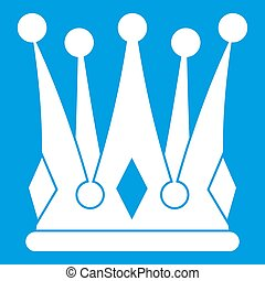 Kingly crown icon white