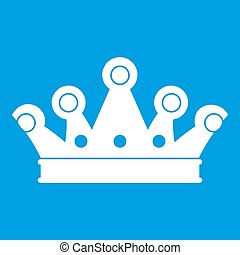 Royal crown icon white