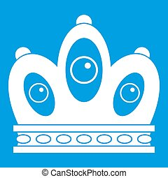 Queen crown icon white