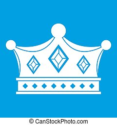 Prince crown icon white