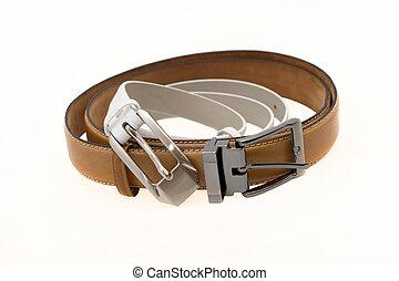 Women's, men's, leather, belts