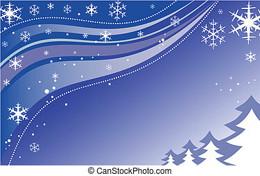 Winter New Years background - New Years and Christmas...