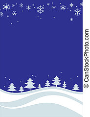 Christmas landskape - Christmas and New Years background for...