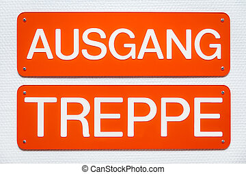 red signs with german words