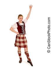 Irish Dancer - A Teenage Irish Dancer in Celtic Costume