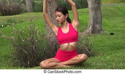 Thin Fitness Female Stretching