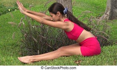 Thin Female Stretching