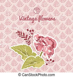 Vintage Flourish Background - Vintage flourish backround...