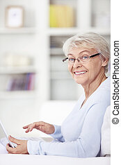 Attractive woman with a laptop