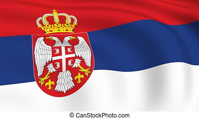 Flying Flag of SERBIA | LOOPED |