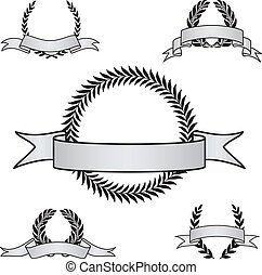 Vector Award Crest Set - Set of vector crests. Perfect for...