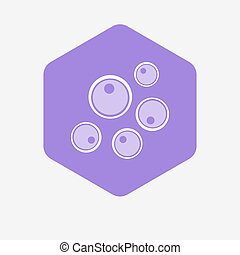 Isolated hexagon with oocytes - Illustration of an isolated...