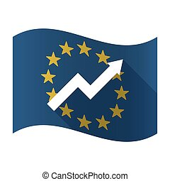 Isolated EU flaw with a graph - Illustration of an isolated...
