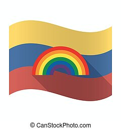 Isolated Venezuela flag with a rainbow - Illustration of an...