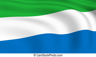 Flying Flag of SIERRA LEONE | LOOPED |
