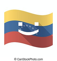 Isolated Venezuela flag with a smile text face -...