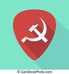 Long shadow plectrum with the communist symbol -...