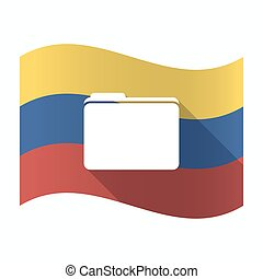 Isolated Venezuela flag with a folder