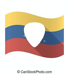 Isolated Venezuela flag with a plectrum - Illustration of an...
