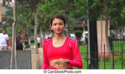 Female Teen Jogger Jogging