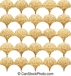 Abstract seamless geometric pattern with gold texture...