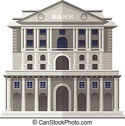 Bank of England London. Vector Isolated Illustration