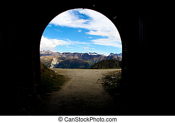 End of a Tunnel - The End of a Tunnel with a nice view over...