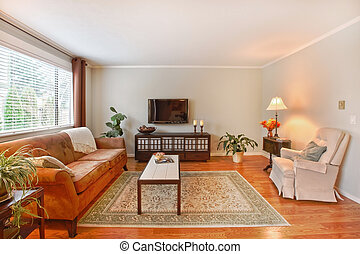 Living room with TV - Living room in the apartment in...