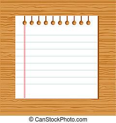 vetorial, caderno, papel