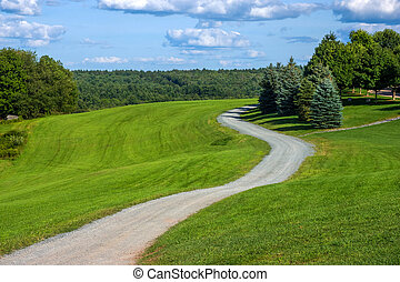 Winding Road Bethal Woods - A winding leading to the...