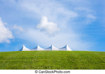 White Tent of Bethal Woods - One of the white tents of...