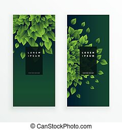 set of two nature banners background