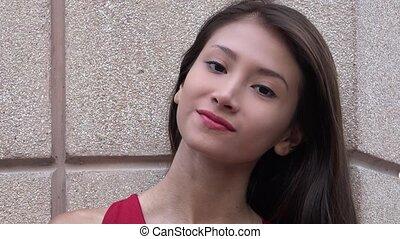 Pretty Hispanic Female Teen