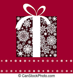 Christmas present box. EPS 8