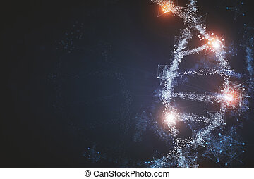 Glowing DNA backdrop
