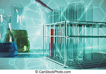 Blue lab research wallpaper
