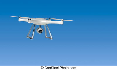 Drone (unmanned aerial vehicle) fly in the sky