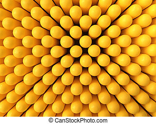 Abstract dots background in yellow colors. Yellow is the...