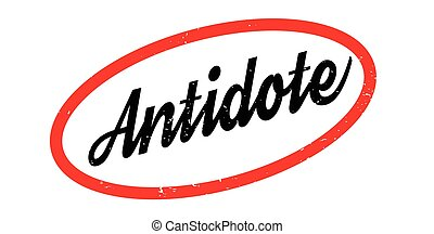 Antidote rubber stamp. Grunge design with dust scratches....