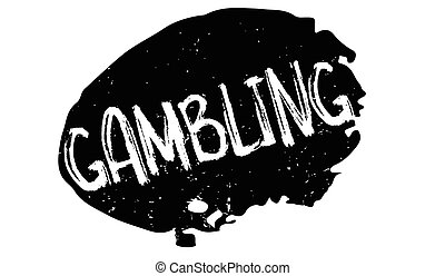 Gambling rubber stamp. Grunge design with dust scratches....